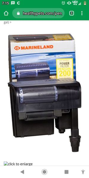 Marineland Penguin 200 power filter for aquarium NEW!! for Sale in North Haven, CT