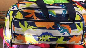 Dinosaur duffle bag and sleeping bag and tent for Sale in Tampa, FL