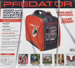 2000 watt generator new portable inverter FIRM ON PRICE Thanks for Sale in Downey, CA