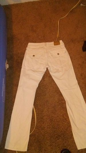White mens size 29 true religion jeans for Sale in Sacramento, CA