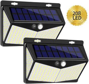 Solar Lights Outdoor 208 LED,Wireless Motion Sensor Lights with 270° Wide Angle IP65 Waterproof for Deck Fence Post Door Wall Yard and Garage, Yard, for Sale in Pomona, CA