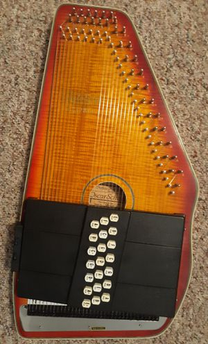 "AUTOHARP ""OScar Schmidt"" serial no:991218 Cherry Sunburst for Sale in Rockbridge, OH"