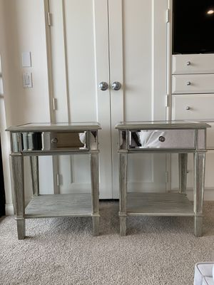 Mirrored side tables, Mirrored nightstands for Sale in Carlsbad, CA