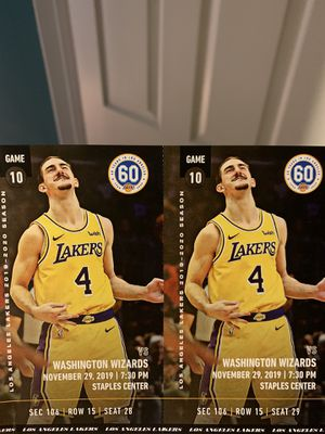 Laker tickets vs Wizards (11/29) for Sale in Downey, CA