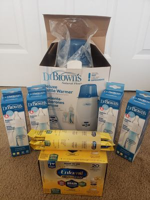 Dr. Brown's bundle: Deluxe bottle warmer and bottles for Sale in Sunnyvale, CA