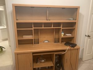 Office Furniture, Hutch, 2 Wall Shelves - tons of storage! for Sale in Saint Pete Beach, FL