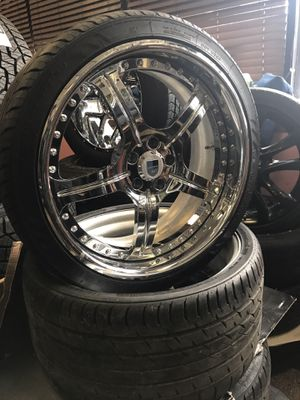 "20"" staggered offset Ashanti wheels rims tires 5x112 bolt pattern for Sale in Chicago, IL"