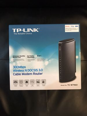 300 Mbps Cable Modem Router TP-LINK Wireless (N DOCSIS 3.0) for Sale in Jersey City, NJ