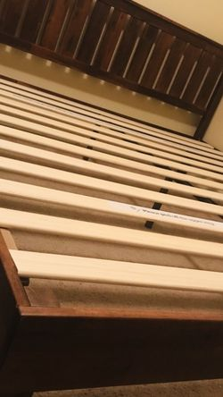 New Queen Size Dark Wood Bed Frame for Sale in Fresno,  CA