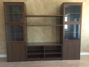 Entertainment center with matching shelves for Sale in Queen Creek, AZ