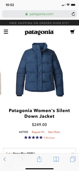 Patagonia Silent Down Women's Down Puffer JACKet (small) for Sale in Queens, NY