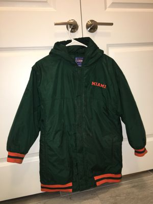 Vintage University of Miami Hurricanes Champs Jacket With Hoodie Large Size for Sale in Miami, FL