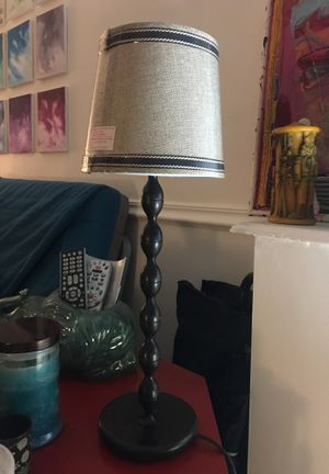 Black brown brass metal lamp for Sale in Baltimore, MD