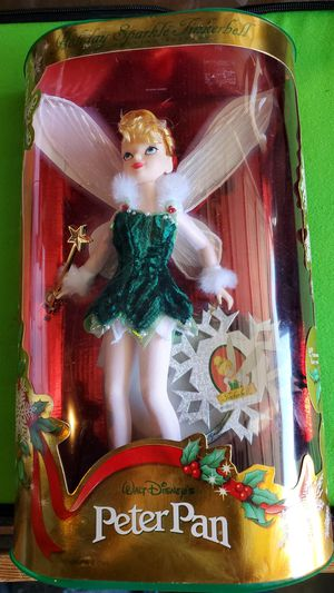Unopened MATTEL special issue DISNEY holiday sparkel TINKERBELL doll for $60 for Sale in Clovis, CA