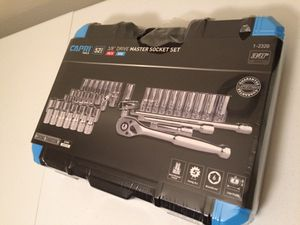 Capri tools 3/8 in drive master socket set for Sale in Tulsa, OK