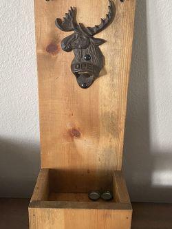 Cast Iron Moose Bottle Opener / Cap Catcher for Sale in Newberg,  OR
