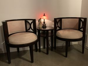 2 Living/Dining Room or Office chair set w/ Table for Sale in Tukwila, WA