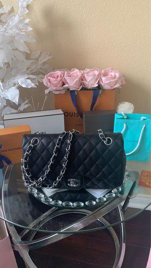 Beautiful black bag handbag leatherette silver hardware for Sale in Chula Vista, CA