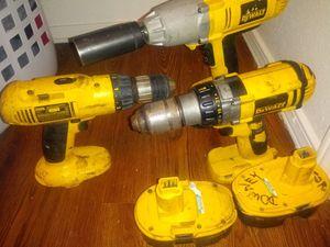 Dewalt power tools lot w/ batteries for Sale in Yukon, OK