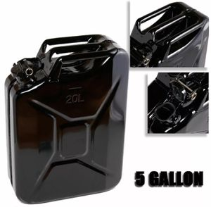Black 5 Gallon Jerry Can Gas Fuel Steel Tank Military NATO Style 20L Storage Can for Sale in ROWLAND HGHTS, CA