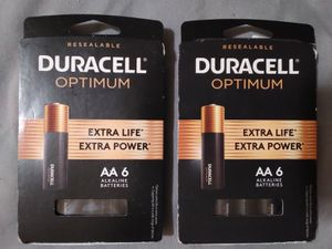 Duracell Optimum AA batteries for Sale in Waite Park, MN
