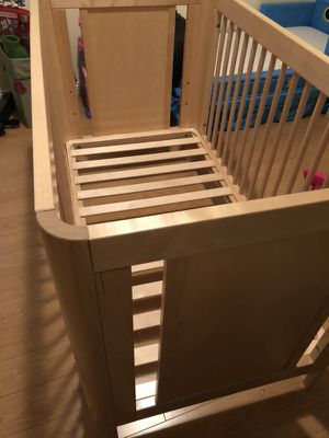 Real wood baby crib made in europe for Sale in Burbank, CA
