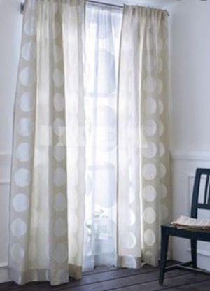Ivory Dot Curtains from IKEA for Sale in Arvada, CO