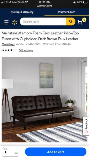 Memory Foam Leather Futon for Sale in Atlanta, GA