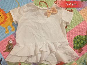 ZARA Baby girl bow short sleeve t-shirt, 9-12m for Sale in Washington, DC
