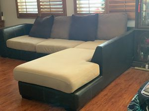 Genuine leather sectional couch for Sale in Yucaipa, CA