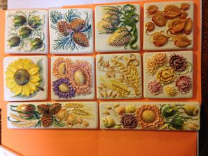 """4""""x4"""" Hand-painted tile $3.00 each for Sale in Starkville, MS"""