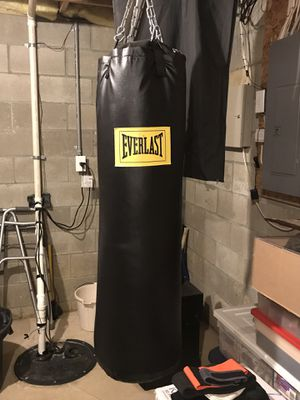 Everlast Punching Bag & Gloves for Sale in Dublin, OH