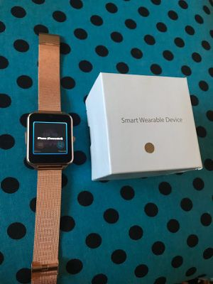 **BRAND NEW** SALE Smartwatch- pedometer, calling,SMS,and camera.SILVER GOLD AND BLACK for Sale in Federal Way, WA