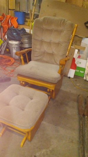 Gliding chair and stool for Sale in Grayling, MI