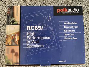 One pair Polk Audio in-wall speakers for Sale in Coronado, CA