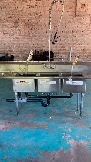 Three basin industrial sink for Sale in Phoenix, AZ