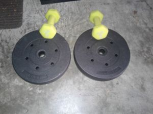 Neoprene 2 - 5 lb hand weights and dumbbells for Sale in Hyattsville, MD