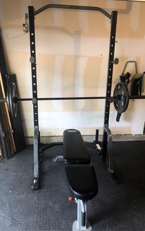 Bench press set for Sale in Keller, TX
