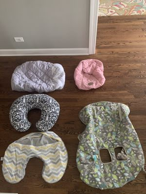Nursing Pillow and Shopping Cart Changing Table & Car Seat COVERS for Sale in Arlington Heights, IL