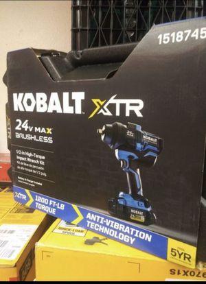 KOBALT 24V BRUSHLESS 1/2 HIGH TORQUE IMPACT WRENCH KIT for Sale in San Bernardino, CA