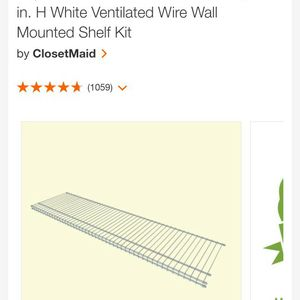 Wire Closet Shelf 4ft X 12in for Sale in Jersey City, NJ
