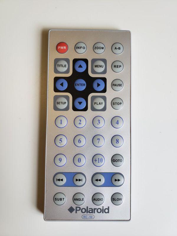 Polaroid RC-50 DVD Player Remote for PDM0711 PDM0714 PDM0723 MGX0550 PDM822.