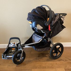 BOB Stroller with Chicco Fit2 Car Seat and Accessories In Very Good Condition for Sale in La Center, WA