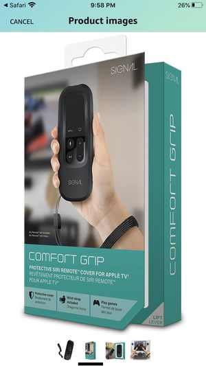 Apple TV Remote Case - Comfort Grip Protective Cover - for Apple TV - a Secure Grip for Surfing or Gaming for Sale in Alhambra, CA