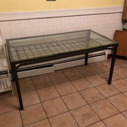 Table Glass Top Steel Frame for Sale in Brookline,  MA