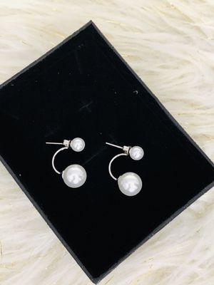 925 Faux Pearl Drop Earrings for Sale in Seattle, WA
