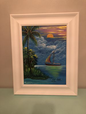 Original Belize acrylic no prints made price reduced !!!! for Sale in Vidalia, GA