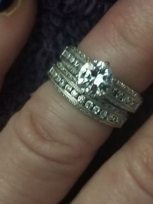 Beautiful solid 925 silver with AAA white great clarity white cz's. Size 6. for Sale in Salt Lake City, UT