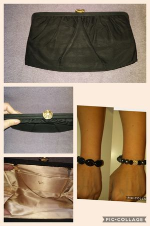 Black vintage clutch and bracelet set for Sale in Duluth, GA