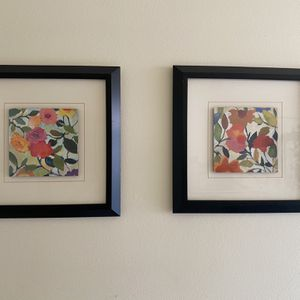 "Two 1 13"" x 13"" framed pictures for Sale in West Covina, CA"